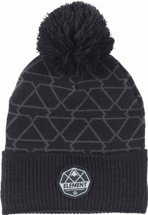 ELEMENT MENS HAT.NEW DUSK POM BLACK BOBBLE KNIT TURN UP BEANIE CAP 7W BNB2 1913